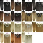 Clip in Hair Extensions 7pcs/Set Heat Resistant Synthetic Hair Clip on Hairpiece