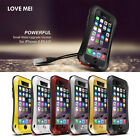 New Shock/Waterproof Aluminum Gorilla Glass Cover Metal Case For iPhone 6 6 Plus