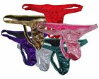 K326G Hot Sexy Mens Skimpy Pouch Thong Shiny Metallic Dots Foiled