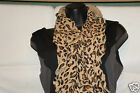 NEW WOMEN'S 100% ACRYLIC KNITTED ANIMAL PRINT  SCARVES!!! LADIES VARIOUS COLORED