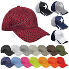 Plain Air Mesh Baseball Cap Blank Solid Sports Adjustable Ball Hat Unisex