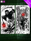Halloween DOOR cover Poster Decoration LED LIGHT UP Part FREE UK P&P