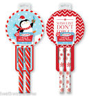 2 CHRISTMAS PENS & STICKY NOTES PAD SET FESTIVE FUN GIFT STOCKING FILLER NEW