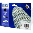NEW GENUINE EPSON 79 TOWER OF PISA SERIES BLACK INK CARTRIDGE (C13T79114010)