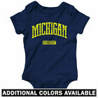 Michigan Represent One Piece - State MSU Baby Infant Creeper Romper - NB to 24M
