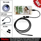 Endoscope 6 White LEDs 1M Waterproof Tube Inspection Camera Mini Android Φ5.5mm