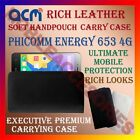 ACM-RICH LEATHER SOFT CASE for PHICOMM ENERGY 653 4G MOBILE HANDPOUCH COVER NEW