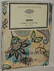 "RAYMOND WAITES CLOTH TABLECLOTH Paisley Floral Tan 60"" 84 120 Rectangle Round"