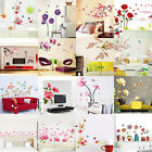 Blossom Wall Sticker Flower Rose Butterfly Art Decal Removable Home Mural DIY