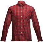 MERC LONDON NEDDY MENS RED TARTAN DESIGNER SHIRT