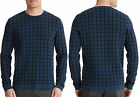 NWT $265 Theory Crew Neck Cotton Blend Bold Grid Knit Pullover Sweater