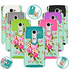 For LG Leon C40 Phone Rugged Rubber Orchid Bud Patterned Durable Back Case Cover