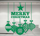 Christmas Baubles & Merry Christmas decoration. Vinyl wall sticker decal art.