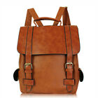 Women's Leather Vintage Travel Backpack rucksack Bookbags Laptop School bag