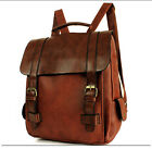 Women's Vintage Leather Backpack Travel Bag rucksack Bookbags Laptop School bag