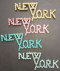 SO 70s.. SO Disco... Sparkly NEW YORK Brooch -10cm -4 Colours