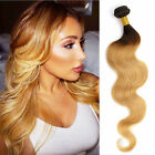 50g/Bundle Weave Brazilian Human Hair Extensions Ombre 2-Tone Weft 3Bundles Hair