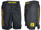 MMA Fight Grappling Kick Boxing Shorts UFC Cage Fight Black Satin New