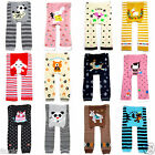 4 PAIRS Cute  Cotton Leggings Tight Pants for Baby Toddler Boys Girls 6-36Months