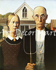 American Gothic-Grant Wood - CANVAS OR PRINT WALL ART