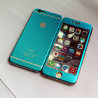 Blue Titanium Alloy Tempered Glass Screen Film Front+Rear For iPhone 6 Plus 5.5