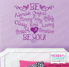 BE Adorable, Funny, Original, Strong Quote Vinyl Wall Decal Girls Inspirational