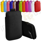 Large Premium PU Leather Pull Tab Case Cover Pouch For HTC Merge
