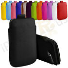 Large Premium PU Leather Pull Tab Case Cover Pouch For Samsung A8530 Wave II