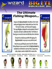 Big Eye Bucktail Wizard Tackle Green & White Fixed Hook