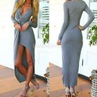 New Sexy Women Bodycon V Neck Clubwear Party Eveing Party Summer Long Maxi Dress