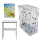 Vision Bird Cage Large, Single or Double, Optional Stand and Papers