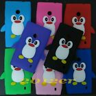New Cute 3D Penguin Silicone gel back case cover skin for Nokia Lumia 520 525