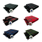 New Scottish Piper's Kilt Fly Plaid With Stone Brooch -  6 Tartans