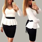 Women Elegant Tunic Business Casual Work Cocktail Party Evening Pencil Dress new