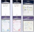 Christening Invitations - 20 sheets or 6 Cards - Boy or Girl - Choice of Design