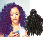 6A 3Bundles Brazilian Kniky Curly Human Hair Extension 150g Black Afro Haar Weft