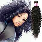 AU New Real Curly Human Hair Extensions 50g/pcs Black Afro Hair Wefts Weave