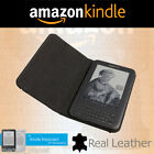 Genuine Amazon Kindle Keyboard 3rd Generation/2010 Real Leather Cover Case