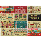 JVL PVC Backed Novelty Coir Entrance Floor Door Mat 40x70cm Wine Home Owls Birds