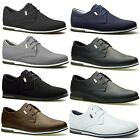 Mens New Shoes Leather Suede Black Khaki Smart Trainers Casual UK 6 7 8 9 10 11