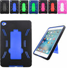 2Layer Shockproof Armor Hybrid Case Cover w/2Way Stand For Apple iPad Mini 4