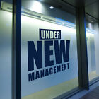 Under New Management Shop Window Transfers & Stickers Decals DIY Store Art A308