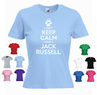 'I Can't Keep Calm I Have a Jack Russell' Ladies Girls Pet Dog Funny T-shirt