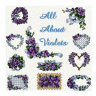 "ABC Designs All About Violets Machine Embroidery Set in Cross Stitch 5""x7"" hoop"