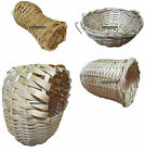 Cane Bird Nest Rattan Bottle Cup Hooded Canary Finch Aviary Cage Breeding Wicker