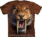 Sabertooth Tiger Mens Prehistoric Animal T-Shirt by The Mountain - BRAND NEW!
