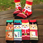 Fashion Women Christmas Stockings Filler Santa Reindeer Snowman Cotton Socks