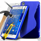 S-Line Wave Gel Case?Tempered Glass LCD Screen Guard for Sony Xperia Z4