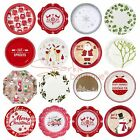 LUXURY CHRISTMAS PAPER PLATES -High Quality- Xmas Party/Buffet -Choose Design