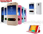 1x PU Leather Window-View Flip Case Cover Skin for Samsung Galaxy S5 G900 i9600